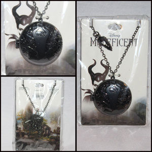 NIB Disney Maleficent Locket Necklace